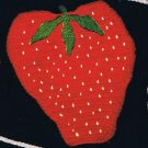 Strawberry  Crochet Pattern Vintage Potholders