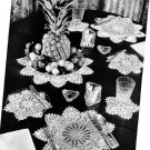 Pattern Set Pineapple Luncheon, Vintage Doilies Table Crochet