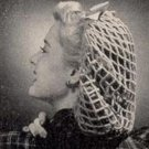 "Lace Hat Pattern Snood, ""Perky"" Snood Crochet Hairnet Hat"