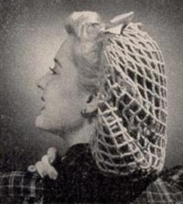 Hair Net Pattern 4-Ply Yarn Crochet Snood