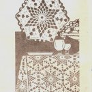 Crochet Pattern Tablecloth Star 753 Vintage Laura Wheeler Table-Cloth