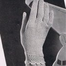 Womens Thread Crochet Vintage Pattern Gloves, Lace
