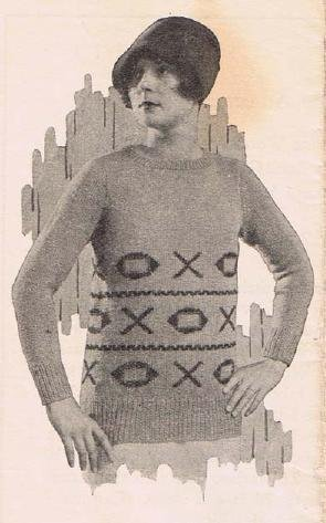 Vintage Knit  Pattern Sweaters Womens Lady Female Patterns