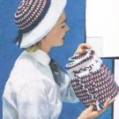 Vintage Hat Pattern, Crochet Womens 50s Purse, Accessories