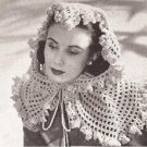 Vintage Fascinator Crochet  Pattern  Head  Wrap Scarf Shawl