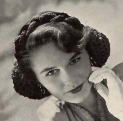 Crochet Snood Hairnet Pattern Thread Headband Braided  Hair Net Vintage