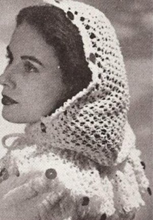 Vintage Crocheted Alicia Scarf or Shawl - About