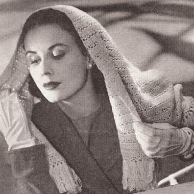 Evening Ladies Crochet Pattern Shawl Shoulder Wrap