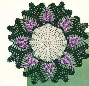 Vintage Doilies, Crochet Pattern, Grape Pattern