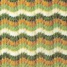 Knit Afghan Pattern Feather Fans Afghan Vintage