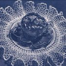 Vintage Crochet Ruffle Doily Pattern with Linen-Center