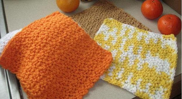 Cotton Crochet Towels, Cotton Pattern 4-Ply Dishcloth Easy
