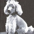 Poodle Knit Pattern Toy Dog, Stuffed Knitted, Vintage Toys