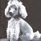 Knit  Poodle, Knit  Pattern, Poodle Toy Dog, Stuffed Knit Toys