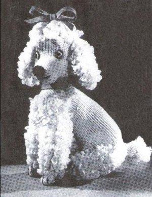 Poodle Toy Knit Pattern Dog Stuffed