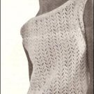 Sleeveless Shell Pattern, Knit Sweater, Shell Sleeveless