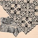 Crochet Vintage Cross Tablecloth Pattern, Vintage Crochet Patterns