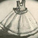 Pinafore Dishcloth Filet  Crochet Pattern Doll Pinafore Crochet