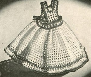 PDF Pinafore Dishcloth Vintage Crochet Pattern Filet