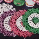 Doilies Vtg Doily Pattern, Two Tone Crochet Doily, PDF Crochet Gift Idea from 50s