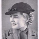 Women Hat Pattern Crochet Vintage Hat 50s Small Brim Style Pattern