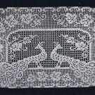 Buffet Peacock Runner Filet Oval  Scarf Crochet Runner 20x16