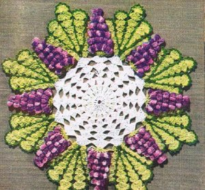 Vintage Grape  Crochet, Doily Patterns Grape