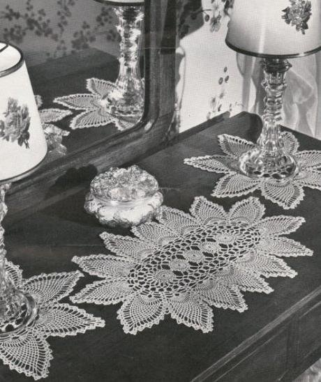 Crochet Vanity Set Pattern Pineapple Runner
