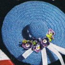 S-338 Crochet Pattern Sun Hat Pincushion/Blue Sachet Pattern