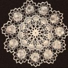 Rose Doily, Irish Vintage Pattern, Flower Doily Crochet