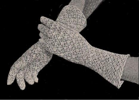Free Crochet Patterns Lace Gloves : Lace Bridal Crochet Gloves Pattern
