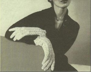 Vintage Bridemaid's Gloves Crochet Bridal Pattern, Thread