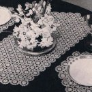 Luncheon Table Set Runner Crochet Pattern and Placemats from Motifs