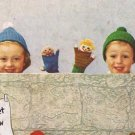 Puppet Knit Pattern Mittens, Storybook  Humpty Dumpty, Clown, Childrens Kids