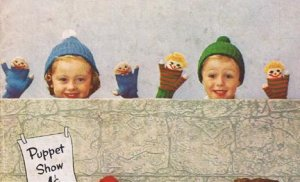 Storybook Children's Knitted Pattern Puppet Mittens