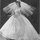 Crochet Barbie Wedding Dress Veil, Vintage Patterns Fashions
