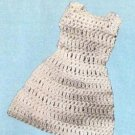 Doll Crochet Dress, Shift  Barbie Pattern 60s Fashions