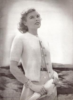 Angora Sweater, Angora Knit Sweater Fashion Mid-century Cardigan Wool Pattern