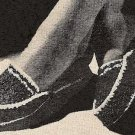 Crochet Scuffs Womens House Shoes Pattern Vintage