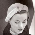 Vintage Womens Slit Brim Pattern Hat Crochet