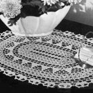 Crochet Doily Pattern Oval Shaped Pattern Thread Doily