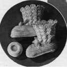 Baby Booties Thread Infants Vintage  Crochet Pattern