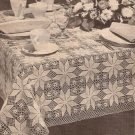 Shining Star Crochet Square Motif Tablecloth Pattern