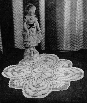 Filet Doily, Vintage Crochet, Doilies, Pattern Thistle