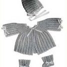 Crochet Baby Patterns 50s Sweater Sets, Layette Patterns Vintage Layette Doreen