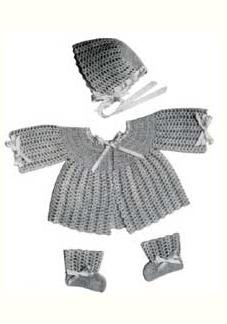 Baby Crochet Sets Vintage Pdf, Doreen Pattern Baby Sweaters Book