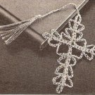 Small Crochet Cross,Applique Crucifix Bookmark Pattern