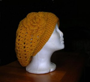 Hat Pattern Slouchy  Beret, Crochet Womens, Ladies, Girls, Winter