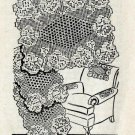 Vintage Crochet Pattern Filet Chair Set Mail Order Design Pansy Flower Openwork PDF Lace