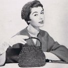 Hat Purse Crochet Beaded Hiawatha Set Pattern Vintage